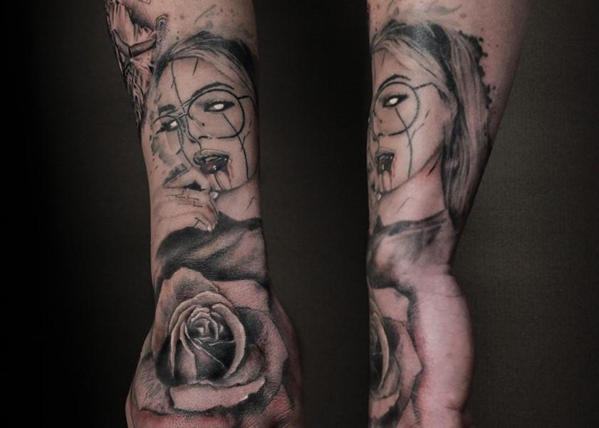 Focus Mind rankos tatuiruotė