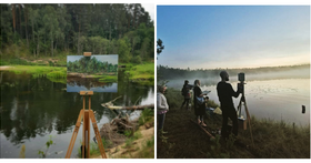 Apie tapybą gamtoje ir paveikslus namams