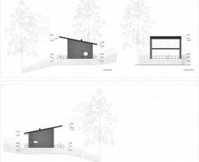 """Pastatų projektavimas. Poilsio namų projektinis pasiūlymas. Užsakovas - UAB """"City form""""."""