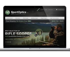 Medžioklės reikmenų puslapio dizainas. Peržiūra: http://webdizainai.lt/klientozona/SPORTOPTICS/