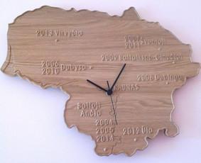Laikrodis pagal special užsakymą. Galima pažymėti norimus Lietuvos objektus. (Ąžuolas) PARDUOTA