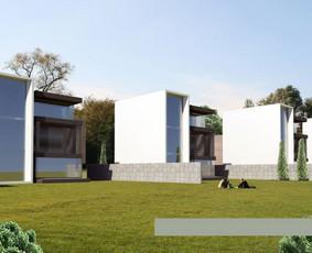 Modernios architektūros kvartalas Ateities g. Vilnius