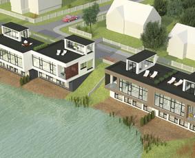 """Pastatų projektavimas ir 3D vizualizacijos pavyzdys. Dvibučiai gyvenamieji namai. Užsakovas - UAB """"Dolentus"""" ir UAB """"Ulija"""". Išsamesnė informacija apie projektą - http://www.capital.lt/pamedes- ..."""
