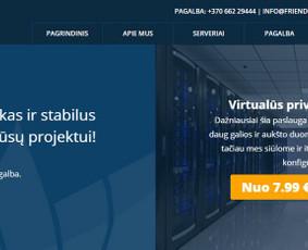 Friendlyhost - serverių nuoma, VPS, Dedikuoti, svetainių tal