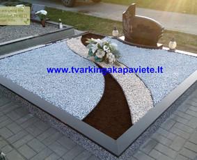 Kapo dengimas plokšte, paminklai kapams, kapų tvarkymas / TVARKINGA KAPAVIETĖ / Darbų pavyzdys ID 401869