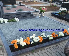 Kapo dengimas plokšte, paminklai kapams, kapų tvarkymas / TVARKINGA KAPAVIETĖ / Darbų pavyzdys ID 401879