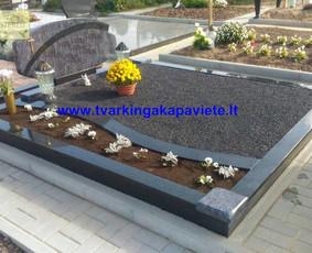 Kapo dengimas plokšte, paminklai kapams, kapų tvarkymas / TVARKINGA KAPAVIETĖ / Darbų pavyzdys ID 401881