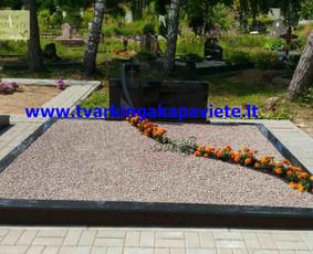 Kapo dengimas plokšte, paminklai kapams, kapų tvarkymas / TVARKINGA KAPAVIETĖ / Darbų pavyzdys ID 401889