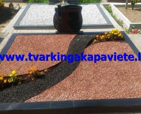 Kapo dengimas plokšte, paminklai kapams, kapų tvarkymas / TVARKINGA KAPAVIETĖ / Darbų pavyzdys ID 401893