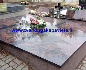Kapo dengimas plokšte, paminklai kapams, kapų tvarkymas / TVARKINGA KAPAVIETĖ / Darbų pavyzdys ID 401899