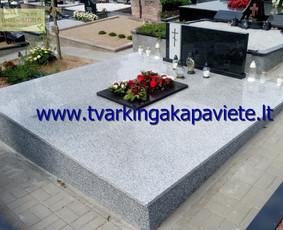 Kapo dengimas plokšte, paminklai kapams, kapų tvarkymas