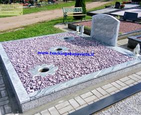 Kapo dengimas plokšte, paminklai kapams, kapų tvarkymas / TVARKINGA KAPAVIETĖ / Darbų pavyzdys ID 401909