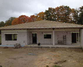Gyvenamųjų namų, plokštuminių pamatų statyba