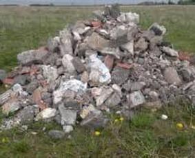 Griovimo darbai, statybinių atliekų išvežimas