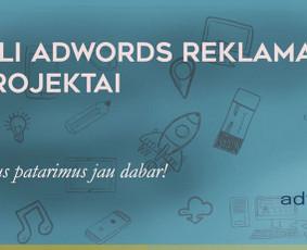 Adwords reklaminių kampanijų kūrimas ir priežiūra