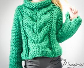 Megztinis iš merino vilnos, padarytas pagal individualų užsakymą.