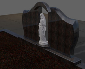 Paminklai, granito plokštės, paminklų gamyba, antkapiai, / PAMINKLAI / Darbų pavyzdys ID 452565