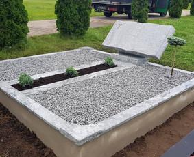 Paminklai, granito plokštės, paminklų gamyba, antkapiai, / PAMINKLAI / Darbų pavyzdys ID 452573