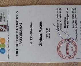 Elektrikas į namus. ESO dokumentacija. / Žilvinas Mačius / Darbų pavyzdys ID 458363