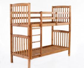 Dviaukštė lova. 80x 200 ara 90x 200. galima rinktis spalvas: ruda, balta, tamsiai pilka arba natūrali. Galima nuimti ir naudoti kaip dvi vienvietes lovas