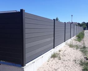Pilka tvora iš WPC lentų, Vilniuje