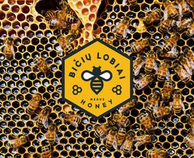 """Medaus ūkio """"Bičių lobiai"""" logotipas"""