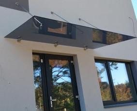 Turėklai iš nerūdijančio plieno ir vidaus durys