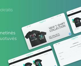 Internetinių svetainių ir el. parduotuvių kūrimas, dizainas