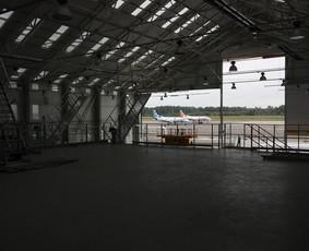 Orlaivių angaras Kaune. Projektas darytas dirbant UAB Architektų biure G. Natkevičius ir partneriai
