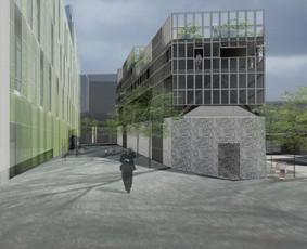 """Visuomeninis pastatas Barselonoje. Kurtas dirbant architektų biure """"Garcia - Duran & Echeverria"""""""