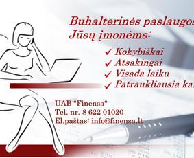 Buhalterinės paslaugos / Бухгалтерия / Accounting