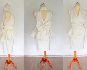 Individualiai kurtas nuotakos kostiumėlis