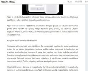 Tekstų kūrimas tinklalapiams