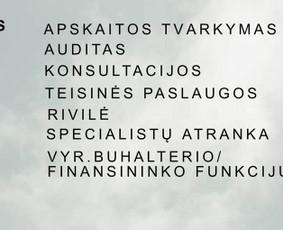 Buhalterinės paslaugos visoje Lietuvoje nuotoliniu būdu 59€