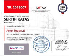 Sertifikuotas nekilnojamojo turto brokeris Vilniuje / Artur Bogdevič / Darbų pavyzdys ID 511083