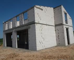 Namo statyba Mūro darbai mūrijimas Sienų mūrijimas