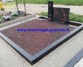 Kapo dengimas plokšte, paminklai kapams, kapų tvarkymas / TVARKINGA KAPAVIETĖ / Darbų pavyzdys ID 524725