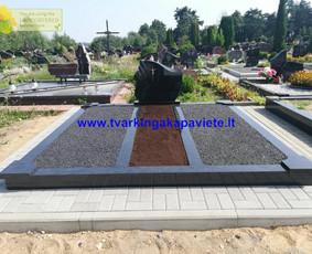 Kapo dengimas plokšte, paminklai kapams, kapų tvarkymas / TVARKINGA KAPAVIETĖ / Darbų pavyzdys ID 524729