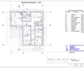 Architektas, projektavimas / RN projektai / Darbų pavyzdys ID 532959