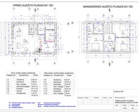 Architektas, projektavimas / RN projektai / Darbų pavyzdys ID 533005