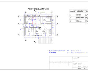 Architektas, projektavimas / RN projektai / Darbų pavyzdys ID 533081