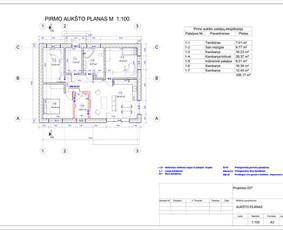 Architektas, projektavimas / RN projektai / Darbų pavyzdys ID 533395