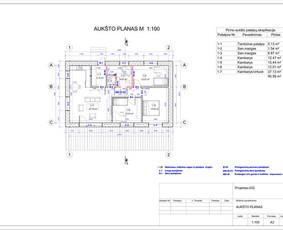 Architektas, projektavimas / RN projektai / Darbų pavyzdys ID 533901