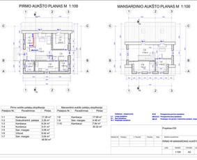 Architektas, projektavimas / RN projektai / Darbų pavyzdys ID 533947