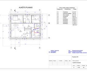 Architektas, projektavimas / RN projektai / Darbų pavyzdys ID 534043