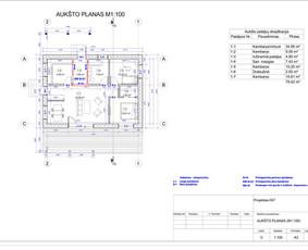 Architektas, projektavimas / RN projektai / Darbų pavyzdys ID 534055