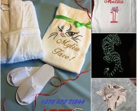 Siuvinėjimo paslaugos, siuvinėtos dovanos