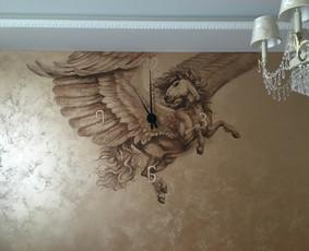 meninis sienu dekoravimas, paveikslai