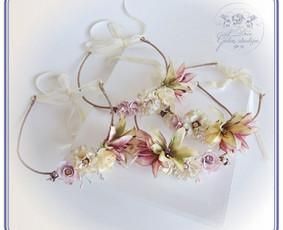 Gyvų ir šilko gėlių lankeliai šventėms Jums ir vaikams