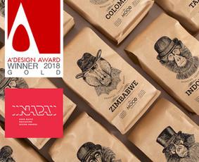 """Sukurtas pavadinimas, logotipas ir pakuotės dizainas rūšinei kavai """"The Mood"""". Gautas aukso advovanojimas didžiausiame pasaulyje dizaino konkurse """"A' Design & Competition"""" ir sidabras NAPA Ba ..."""